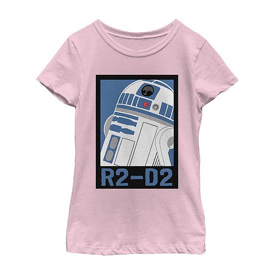 Star Wars Galaxy Of Adventures R2-D2 Poster B1p Girls Crew Neck Short Sleeve Star Wars Graphic T-Shirt - Preschool / Big Kid Slim