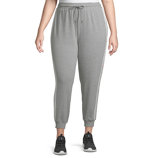 Flirtitude Womens Mid Rise Jogger Pant-Juniors Plus