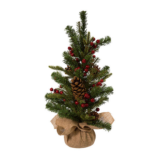 Kurt Adler Kurt Adler 24-Inch Red Berries And Pinecones Tree 2 Foot Christmas Tree