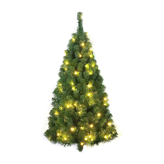 Kurt Adler Kurt Adler 4-Foot Pre-Lit Norway Pine Led Wall Tree 4 Foot Christmas Tree