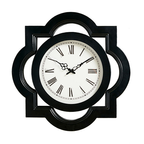 Madison Park Lucca Black Wall Clock