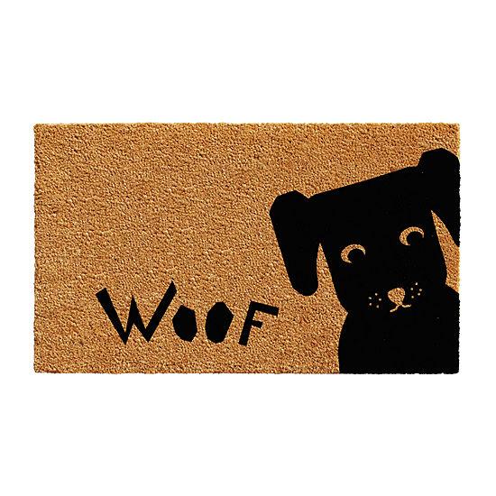 Woof Rectangular Outdoor Doormat