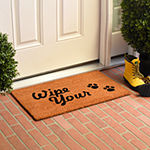 Wipe Your Paws Rectangular Outdoor Doormat
