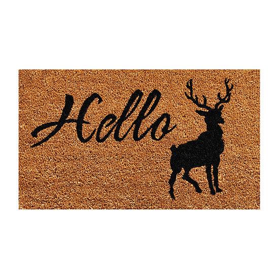Calloway Mills Hello Elk Rectangular Outdoor Doormat