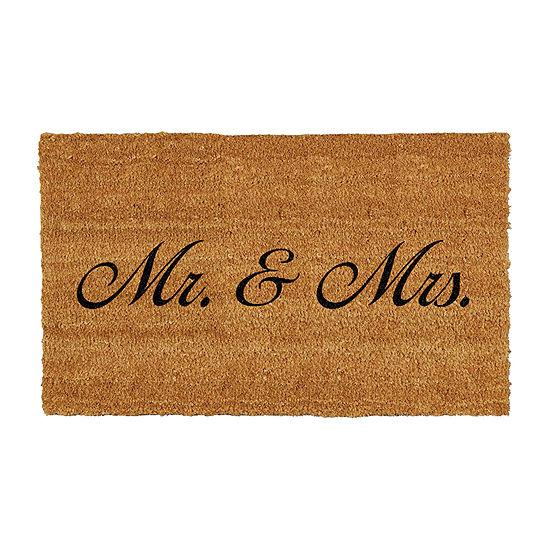 Mr. Mrs. Rectangular Outdoor Doormat