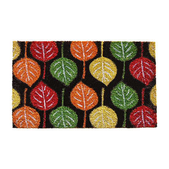 Broad Leaf Beauty Rectangular Outdoor Doormat