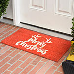 Christmas Antlers Rectangular Outdoor Doormat