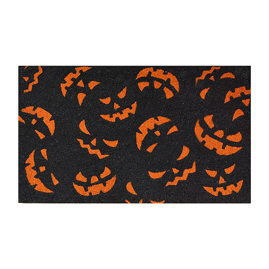 Scary Pumpkins Rectangular Outdoor Doormat