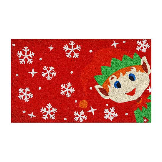 Christmas Elf Rectangular Outdoor Doormat
