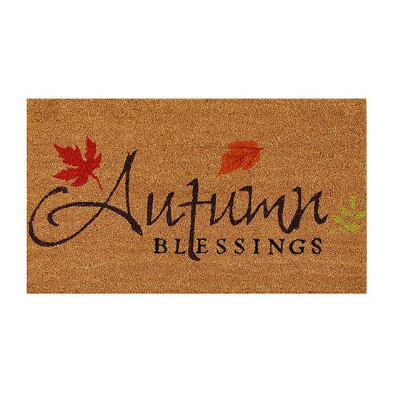 Autumn Blessings Rectangular Outdoor Doormat