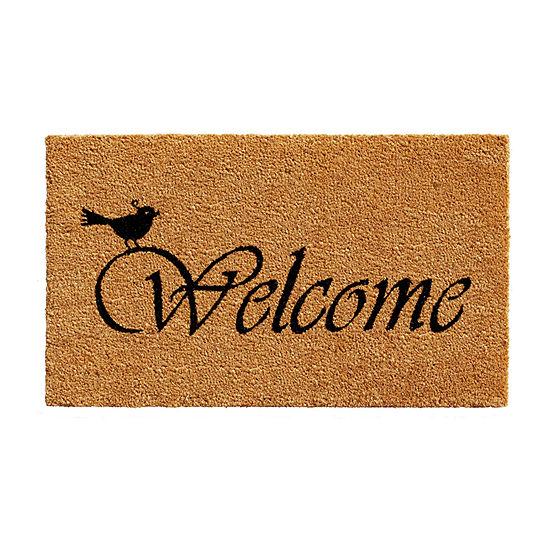 Chirp Welcome Rectangular Outdoor Doormat