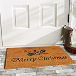 Calloway Mills Christmas Holly Rectangular Outdoor Doormat