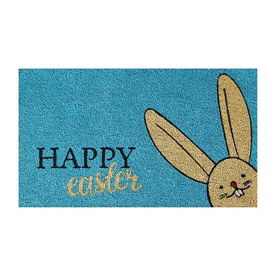 Happy Easter Rectangular Outdoor Doormat