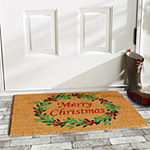 Calloway Mills Christmas Wreath Rectangular Outdoor Doormat