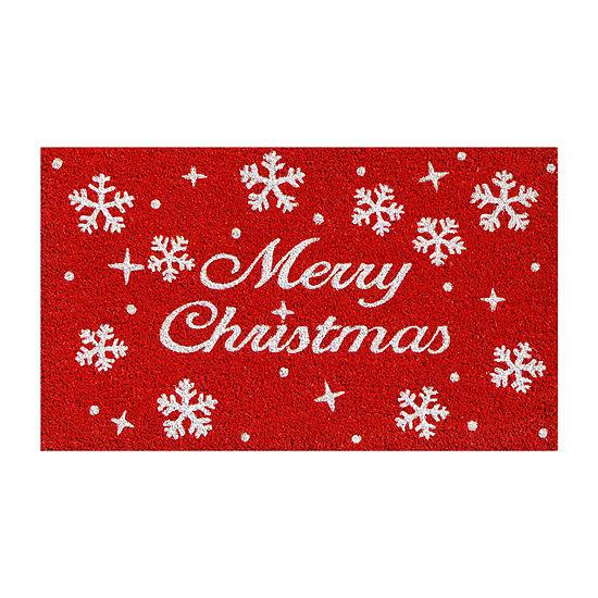 Christmas Stars Rectangular Outdoor Doormat