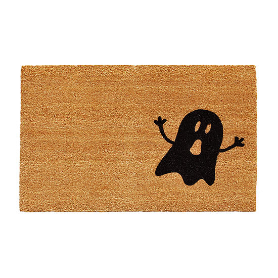 Calloway Mills Natural/Black Ghost Rectangular Outdoor Doormat