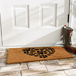 Heart Paws Rectangular Outdoor Doormat