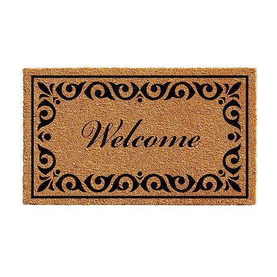 Breaux Welcome Rectangular Outdoor Doormat