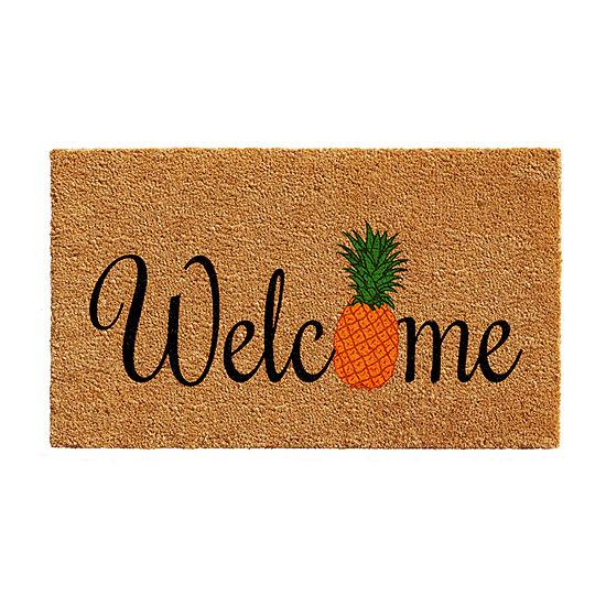 Calloway Mills Pineapple Fun Rectangular Outdoor Doormat
