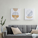 Urban Habitat Metallic Moon 2-pc. Canvas Art