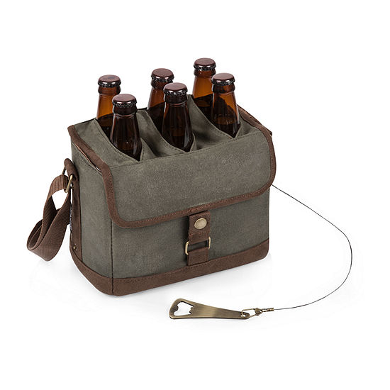 Picnic Time Beer Caddy Cooler Tote with Opener