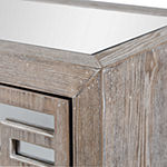Stylecraft Grey with Mirror Wooden Accent Cabinet