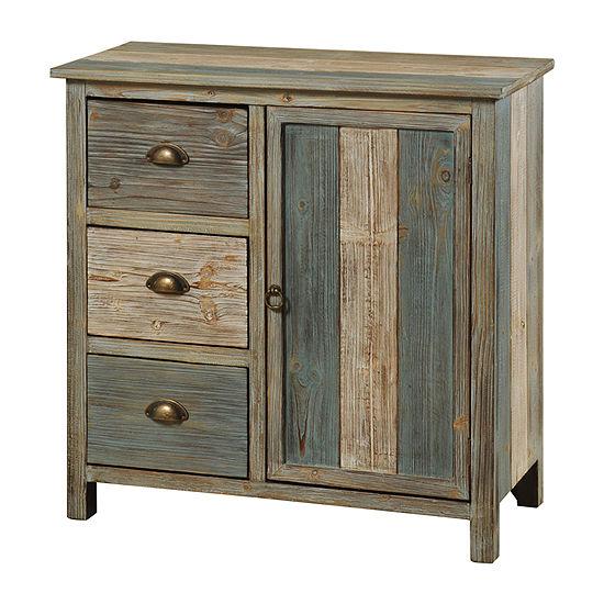 Sanibel 3 Drawer and Door Wooden Accent Cabinet