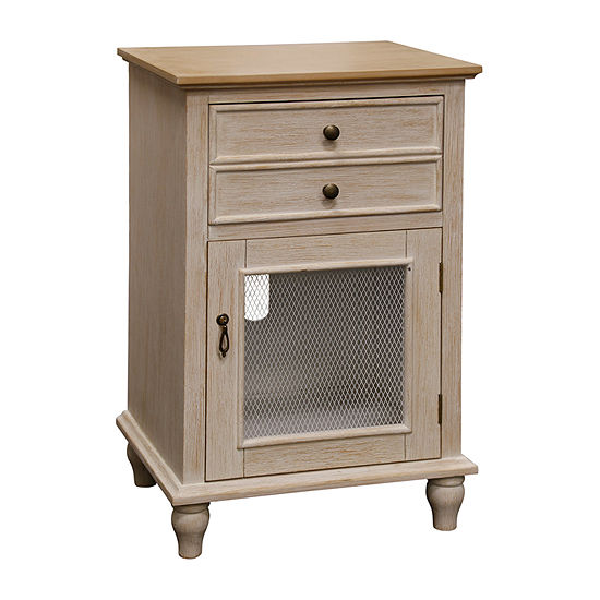 Stylecraft 1 Drawer and Door Tural Light Pine Wooden Accent Cabinet