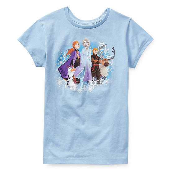 Disney Girls Round Neck Short Sleeve Frozen 2 Graphic T-Shirt - Preschool / Big Kid