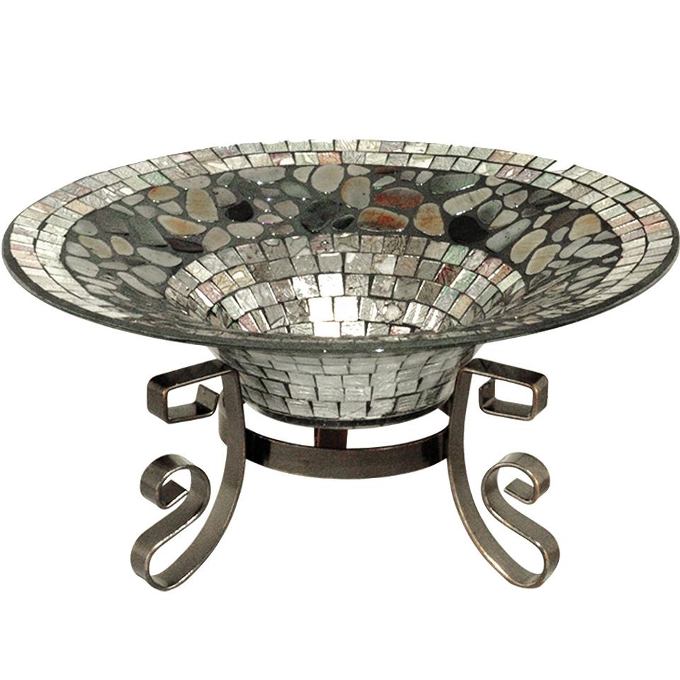 Dale Tiffany Antique Silver Decorative Bowl