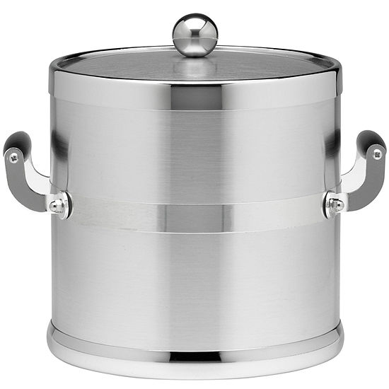 3-qt. Brushed Chrome Ice Bucket