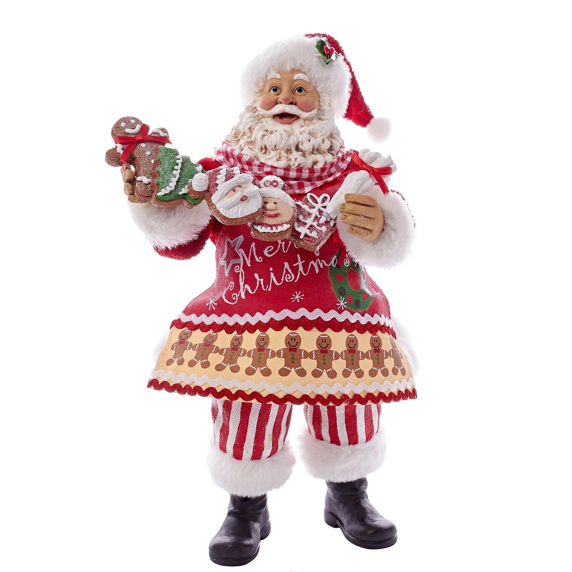"""Kurt Adler 11"""" Fabriche Gingerbread Santa"""