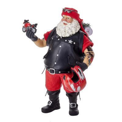"Kurt Adler 11"" Fabriché™ Motorcycle Santa"