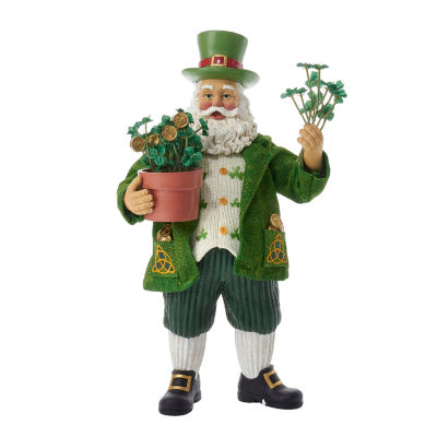"Kurt Adler 11"" Fabriché™ Musical Irish Santa"
