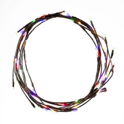 Kurt Adler 6-Foot Pre-Lit LED Multi-Colored Brown Garland