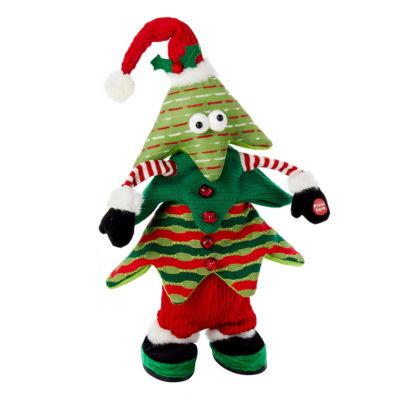 "Kurt Adler 16"" Battery-Operated Singing/Jumping Christmas Tree"