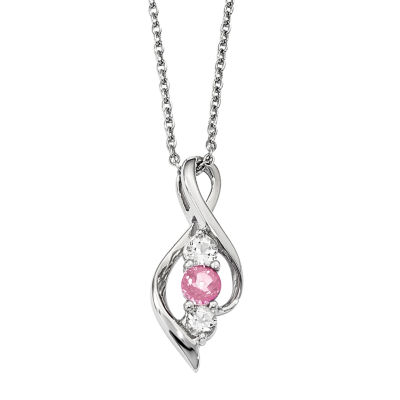 Survivor Collection Womens Genuine Pink Topaz Pendant Necklace