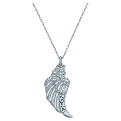 Personalized Angel Wing Pendant Necklace