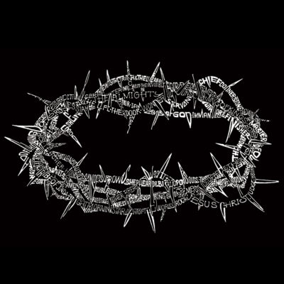 Los Angeles Pop Art Long Sleeve Crown of Thorns Word Art T-Shirt