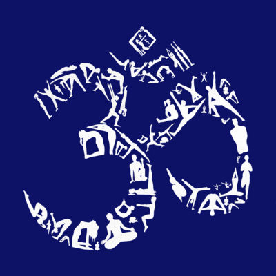 Los Angeles Pop Art Long Sleeve the Om Symbol Outof Yoga Poses Word Art T-Shirt