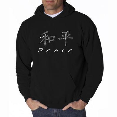 Los Angeles Pop Art Chinese Peace Symbol Long Sleeve Word Art Hoodie
