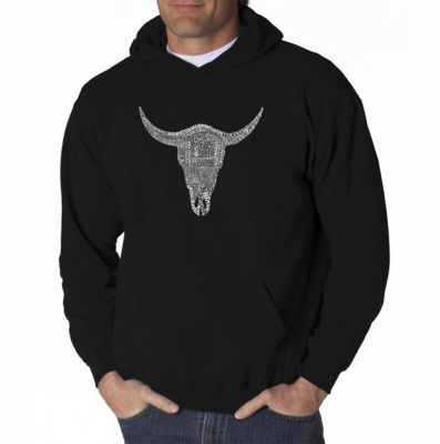 Los Angeles Pop Art Country Music's All Time HitsLong Sleeve Word Art Hoodie