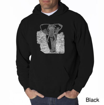 Los Angeles Pop Art Elephant Long Sleeve Word ArtHoodie