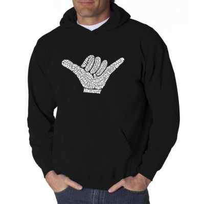Los Angeles Pop Art Top Worldwide Surfing Spots Long Sleeve Word Art Hoodie