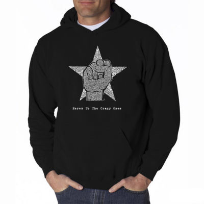 Los Angeles Pop Art Here's to the Crazy Ones LongSleeve Word Art Hoodie