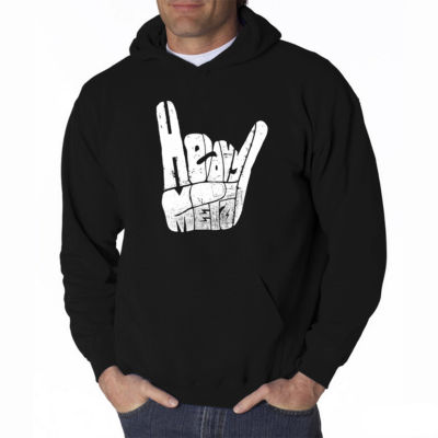Los Angeles Pop Art Heavy Metal Long Sleeve Word Art Hoodie