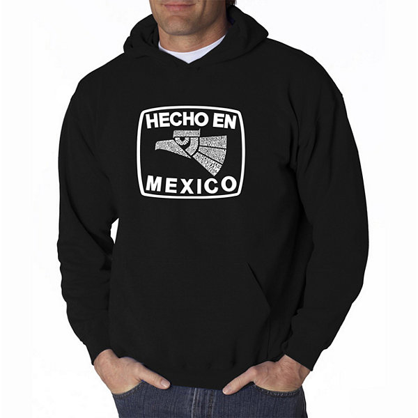 Los Angeles Pop Art Hecho En Mexico Long Sleeve Word Art Hoodie