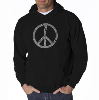 Los Angeles Pop Art Every Major World Conflict Since 1770 Long Sleeve Word Art Hoodie