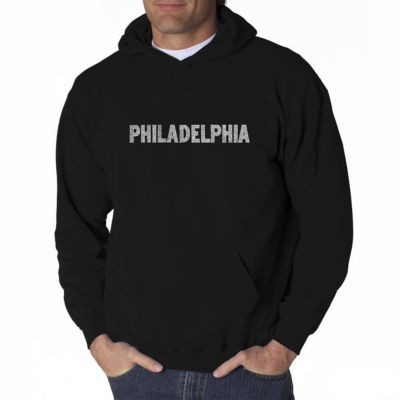 Los Angeles Pop Art Philadelphia Neighborhoods Long Sleeve Word Art Hoodie