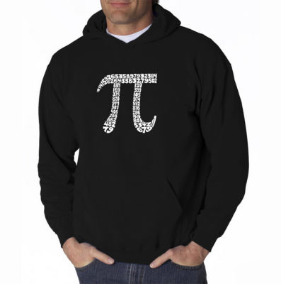 Los Angeles Pop Art the First 100 Digits of Pi Long Sleeve Word Art Hoodie